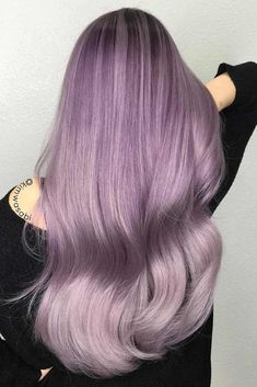 30 Insanely Cute Purple Hair Looks You Won't Be Able to Resist ❤ Blonde and Purple Mix ❤ See more: hair is for women who are not afraid to express themselves. Cute Hair Colors, Hair Color Purple, Purple Ombre, Cool Hair Color, Purple Streaks, Pastel Hair, Ombre Hair, Fantasy Hair Color, Fantasy Makeup