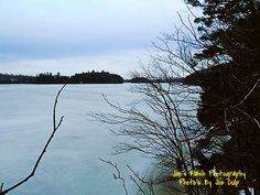 Winter on Isabella Lake East of Orrville Ontario taken off the Chutes Trail