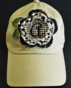Baseball Cap in Khaki with Animal Print Frayed by CabinFeverCO, $16.00