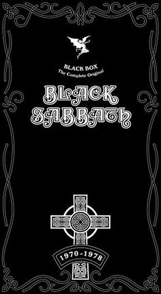 Black Box (The Complete Original Black Sabbath 1970-1978)  Boxed Set  April 27, 2004