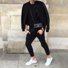Birkinboy...On the street...Paris #birkinboy #birkin_boy #birkinboystyle #streetstyle #streetparis #paris #onthestreet #menstyle #boystyle #look #daylook #sandro #sandroparis #thekooples #thekooplesparis #chanel #chanelparis #chanelbag #chanelmen #adidas #adidasstansmith #cartier #cartiertankwatch #hermes #hermescollierdechien #collierdechien #cdc @chanelofficial @thekooplesofficial @sandroparis @adidas @hermes @cartier #sportattitude #birkinboyinparis Chanel Men, Hermes Men, Masculine Style, Mens Fashion, Fashion Outfits, Aesthetic Clothes, Clothing Items, Street Style, My Style