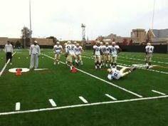 Notre Dame defensive backs drill, 10/20/09