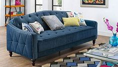 Vintage Tufted Sofa in the Form of… a Futon!