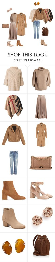 Натуральный стиль by anna-lopatin on Polyvore featuring MaxMara, River Island, Burberry, A.L.C., Current/Elliott, Apt. 9, RED Valentino, Jérôme Dreyfuss, Chanel and Bloomingdale's