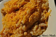 ~Crock Pot Hashbrown Casserole~ A great side dish any time of day, these cheesy potatoes are packed with flavor. Plus, there is no need to turn on the oven, so they are summer friendly!