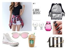 """Untitled #142"" by hailey24pope ❤ liked on Polyvore featuring Converse, Casetify and Victoria's Secret"