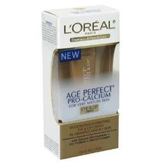 L'oreal Dermo-expertise Age Perfect Pro-calcium for Mature Eye & Lip Cream 15ml [Pack of 3, PACKAGE SEALED] by Loreal. $17.05. INTENSIVE RESTORING EYE & LIP CREAM. RE-DENSIFYING FORMULA WITH CALCIUM MICROSPHERES + SOY PROTEINS. QTY: 3 pack deal!!. AGE PERFECT PRO-CALCIUM FOR MATURE, FRAGILE SKIN. ANTI-SAGGING + ANTI-FRAGILITY  //  FRAGRANCE FREE. Restorative hydrating eye & lip cream re-densifies fragile skin. With Calcium Microspheres plus Soy Protein plus Marine...