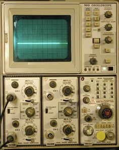 Classic oscilloscope front panels show how it's done Arduino Radar, Steampunk Ship, Computer Music, Mechanical Art, Vintage Props, Antique Radio, Old Computers, Shop Layout, Cool Tech