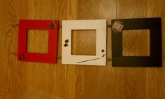 Hockey Frame, finished with SCSU colors and some hockey scrapbooking stickers