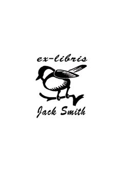 Bird on branch ex-libris stamp for women for men by WoodlandTale