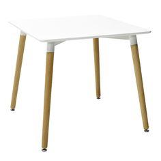 Square table Natali MDF top white 80x80x73 Square Tables, Top, Furniture, Collection, Home Decor, Decoration Home, Room Decor, Home Furnishings, Home Interior Design
