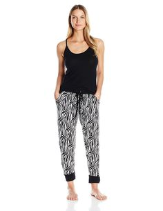 Bottoms Out Women's Cami and Printed Modal Jogger Sleep Set * This is an Amazon Affiliate link. Read more at the image link.