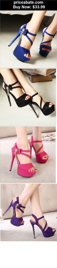 Women-Shoes: Sexy Crystal Heel Peep Toe Platform Stiletto Pump Women High Heels Shoes Sandals - BUY IT NOW ONLY $33.99