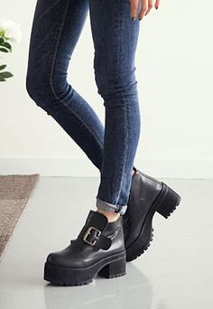 Chunky platform buckle boots from 2NDAPRIL