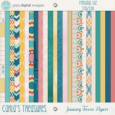January Freeze Papers by Carla's Treasures Designs.