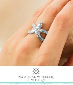Starfish Ring by Nautical Wheeler Jewelry: http://beachblissliving.com/beach-resort-jewelry-summer-colors/
