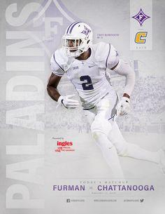 The 2016 @furmanuniv Paladins Roster Card vs. Chattanooga Mocs features senior safety Trey Robinson.