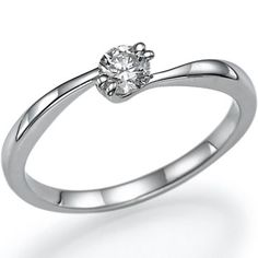 Diamond Engagement Ring Natural Round Cut Diamond 14k by ldiamonds, $412.00