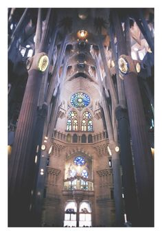 Sagrada Familia Barcelona, Spain.  Check out my full guide to Barcelona packed full of all my Type A tips for where to eat, sleep and what to do on your next visit!  What to Do In Barcelona Barcelona Travel Tips Where to go in Barcelona