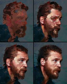 "2,695 Likes, 57 Comments - Aaron Griffin (@aarongriffinart) on Instagram: ""Process stages to my Tom Hardy study :) #portrait #tutorial #stepbystep #process #steps #painting…"""