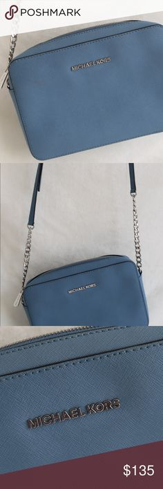 MK Crossbody Light blue Michael Kors crossbody. One little stain only used it theee times Michael Kors Bags Crossbody Bags
