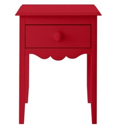 Nellie End Table in Tomato | Maine Cottage #colorfulfurniture