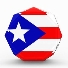 Puerto Rico Flag Acrylic Award!  #flag #zazzle #store #gift #customize #country #home #products #shopping http://www.zazzle.com/flagsbydww25921*
