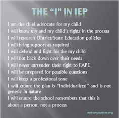 Today was the meeting to set up TJ's IEP (Individualized Education Program). Special Needs Quotes, Special Needs Mom, Special Kids, Individual Education Plan, Education Policy, Science Education, Physical Education, Autism Education, Education Reform