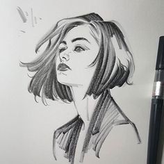 #brushpen #drawing #sketch #doodle #comics #ink #girls #hairstyle #fashion #fall #wind #breeze #emotion #artwork #graphicnovel #그림 #짝 눈