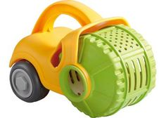 Sand Play Sieve Roller. The Haba Sieve Roller is made of Polypropylene with phthalate-free wheels.
