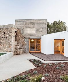 derelict stone heritage buildings in catalonia sustainably revitalized Modern House Exterior buildi buildings catalonia derelict heritage revitalized Stone sustainably Sustainable Architecture, Interior Architecture, Pavilion Architecture, Japanese Architecture, Future House, My House, Natural Interior, House Goals, My Dream Home