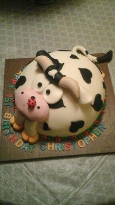 1st birthday cake for a boy.