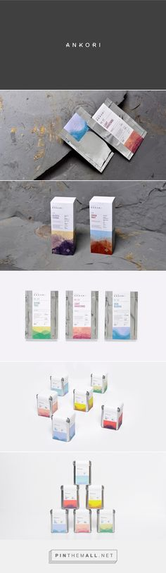 Ankori / Tea by Firmalt. Soft textures of watercolour and layered mark making used to create a landscape that represents the tea's origins and growth. The overall package describes of calm and tranquility, as a portrayal of the feeling of drinking tea itself - promoting the healing nature of consuming the beverage.