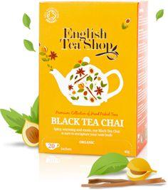English Tea Shop – Bio fekete chai tea, 20 filter, 40 g