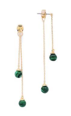 Malachite Drop Sphere Earrings – New York City Fashion Styles Beaded Earrings, Earrings Handmade, Beaded Jewelry, Handmade Jewelry, Jewellery, Cute Jewelry, Jewelry Crafts, Jewelry Accessories, Jewelry Design