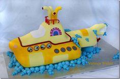 Groovy Yellow Submarine Cake
