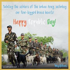 Our Canine warriors are back to participate in the Republic Day Parade after 26 years! Republic Day, Indian Army, Braveheart, Warriors, Bond, Happy, Movie Posters, Film Poster, Popcorn Posters