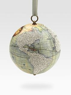 vintage globe #christmas ornament