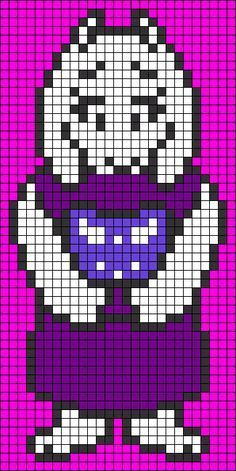 Toriel Undertale Perler Bead Pattern