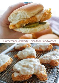 Homemade {Baked} Chick-fil-A Sandwiches! For this recipe, you bake the chicken instead of frying it; making this recipe about as as easy as can be!