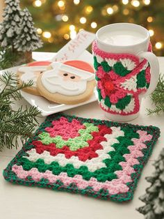 Crochet a mug Cozy using Granny Squares | crochet granny square mug | crochet…
