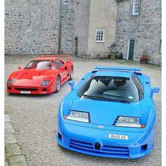 Ferrari F40 , Bugatti EB110.