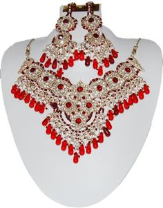 Bollywood Style Indian Imitation Necklace Set / AZBWBR023-GRD Arras Creations http://www.amazon.com/dp/B00IH56LSK/ref=cm_sw_r_pi_dp_NAm6ub01BD6XJ
