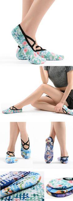 US$12.28+free shipping. Non-Slip Ballet Yoga Pilates Socks, Fashion Flower Printed.One Size, Elastic, fits most.