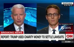 David Fahrenthold was on AC360 tonight talking Trump…
