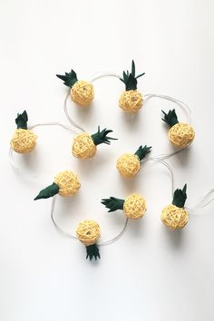 Pineapple String Lights DIY