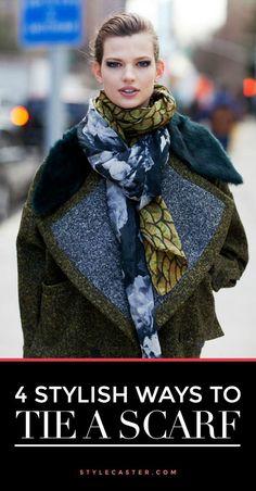 Winter Fashion - how to tie a scarf, 4 stylish ways!