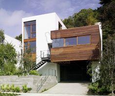 stucco and wood