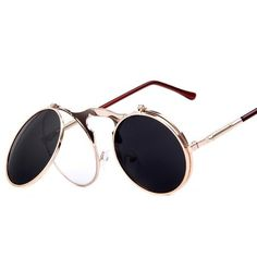 61efc0c2b0 Unisex  Flex  Vintage Steampunk Sunglasses w  Flip Lens Astroshadez