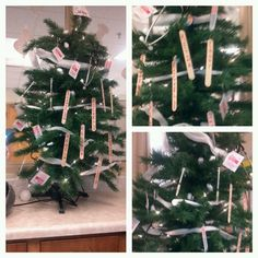 A medical Christmas Tree... The nurses decorated it with medical supplies... Great Idea for a nurses station...